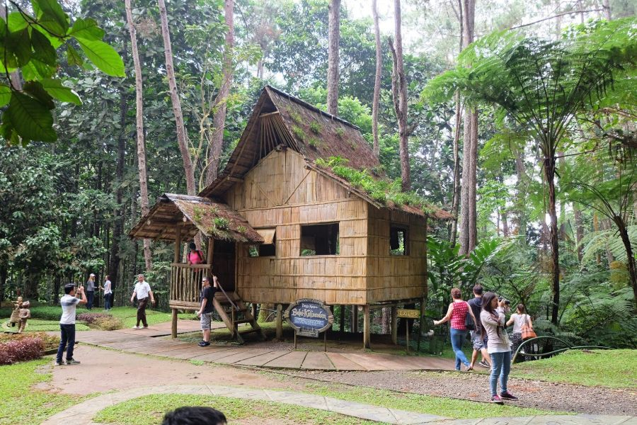 Nipa Hut - A typical lumad house - at Tinubdan, Eden Nature Park, Davao City