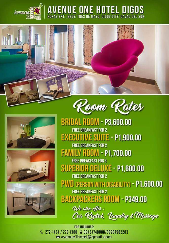 Avenue One Hotel Digos - Room Rates