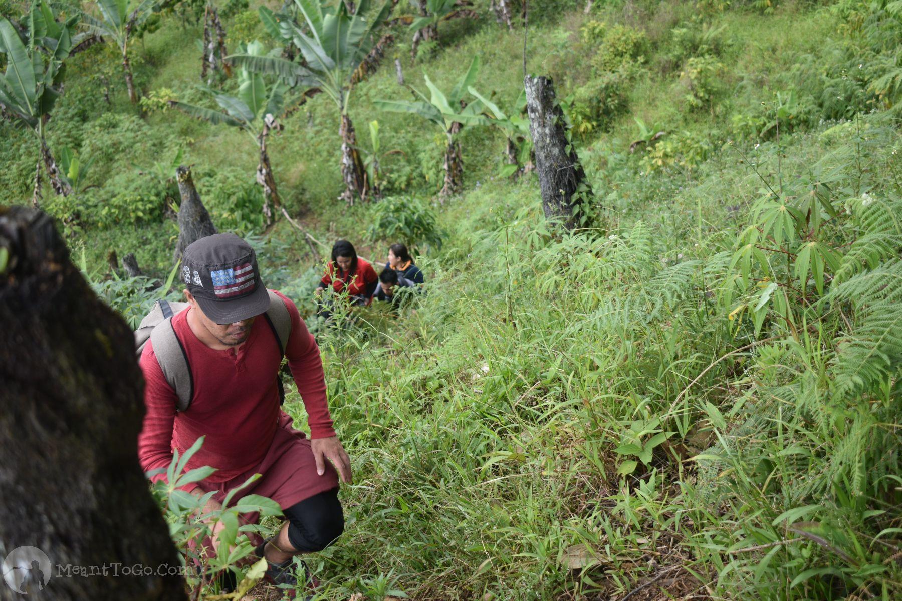 Sicao Falls trail, Tamayong, Calinan, Davao City