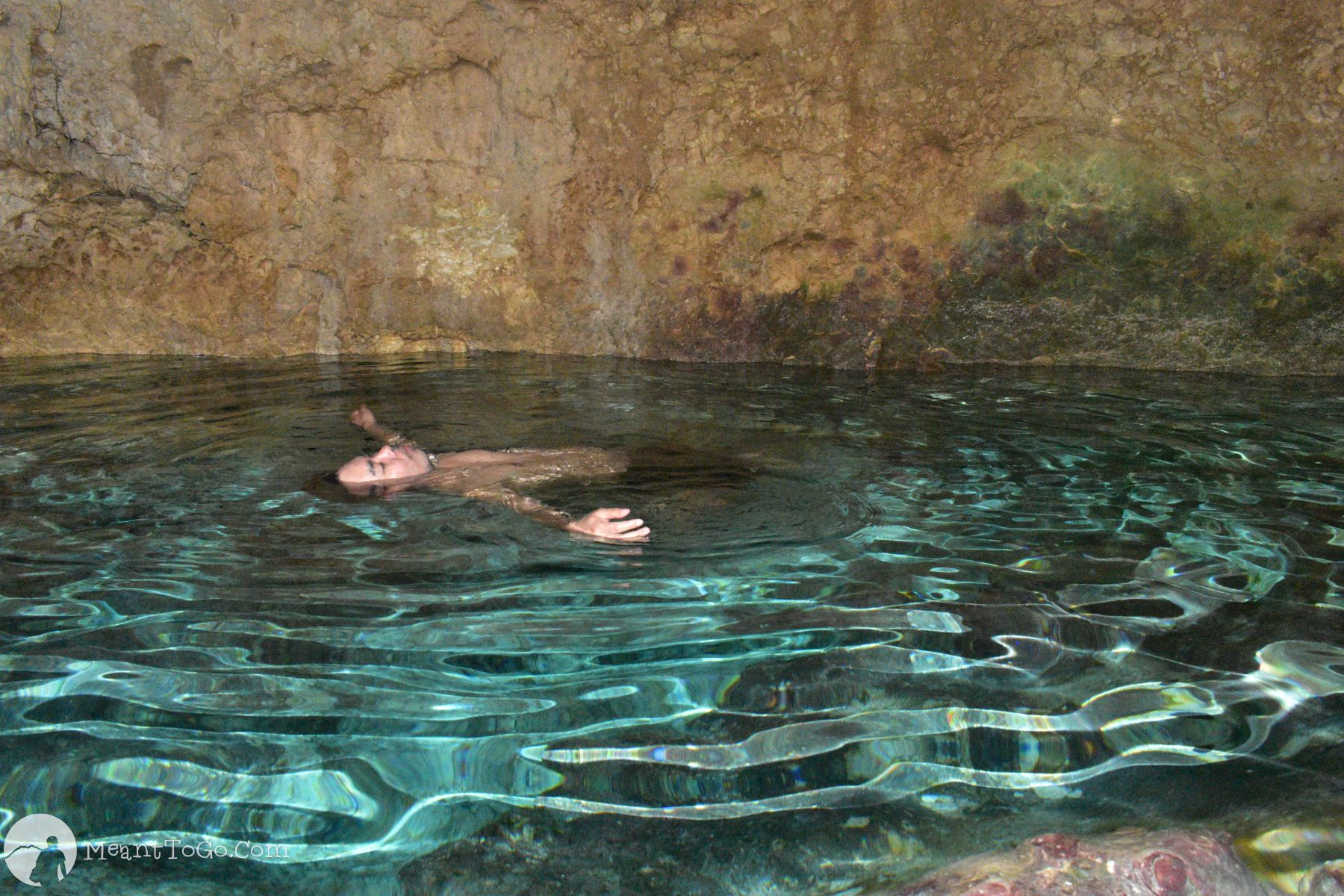 Inside the Combento Cave - A cave pool in Anda, Bohol, Philippines