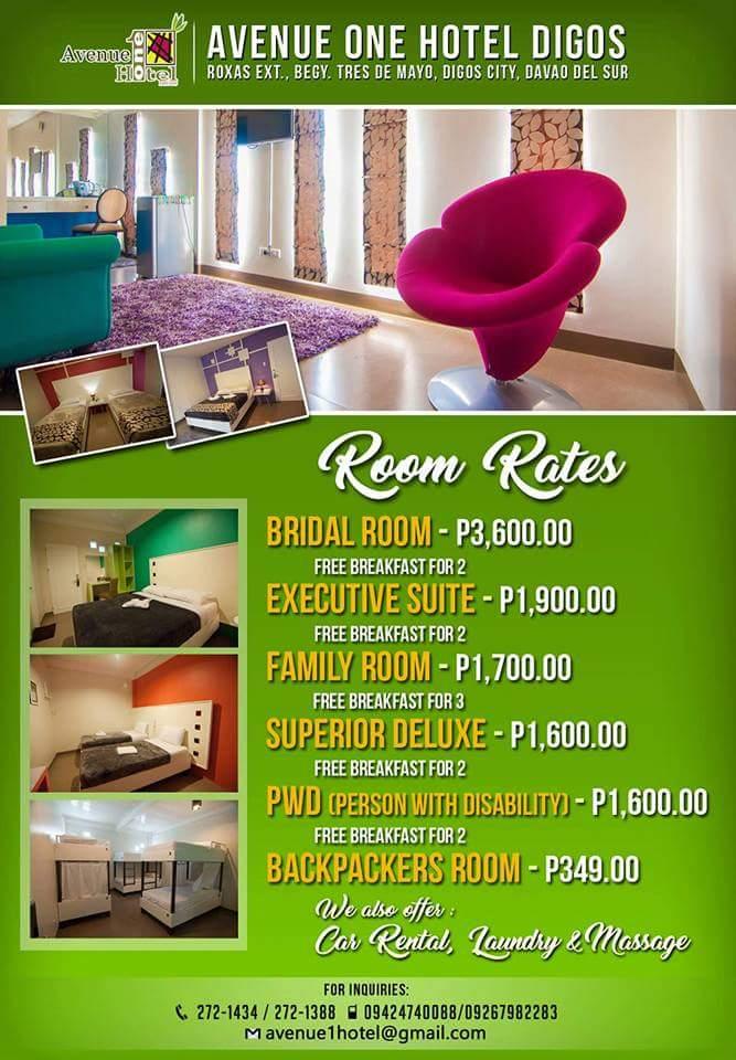 Avenue One Hotel Digos - Room Rates