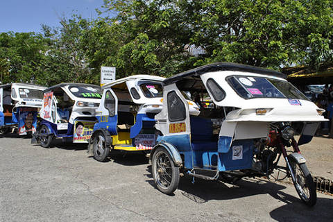 Tricycle in Puerto Princesa, Palawan