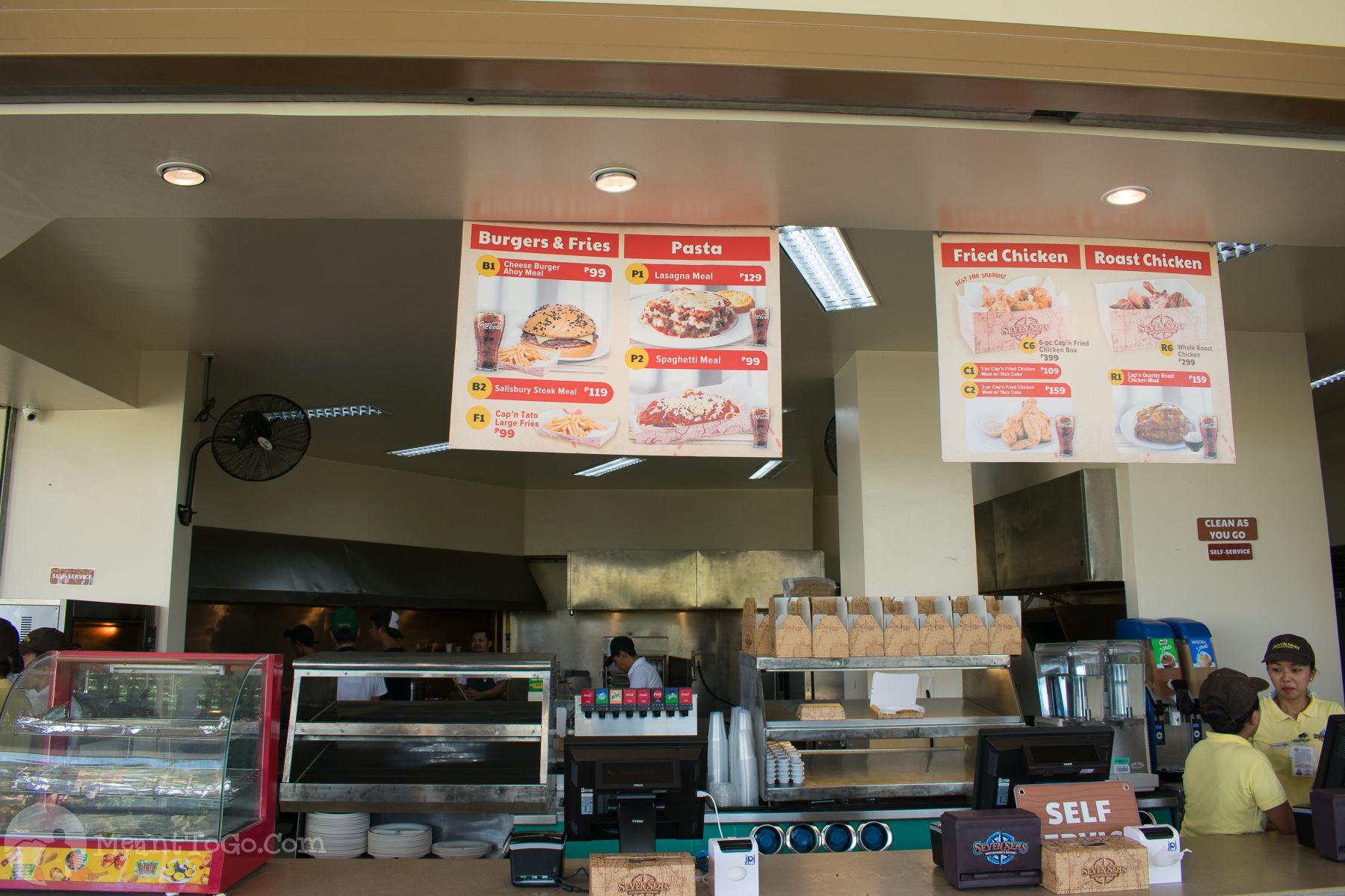 Fast Food inside Seven Seas