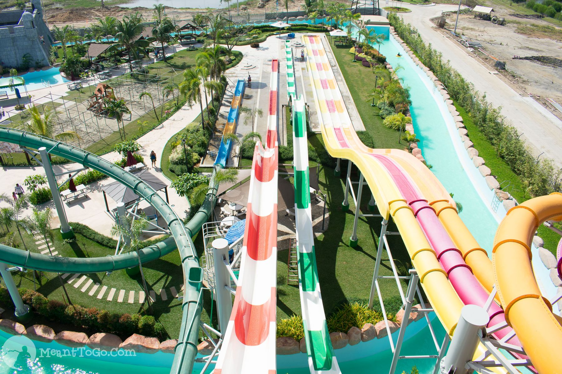 Different slides at Seven Seas Waterpark & Resort