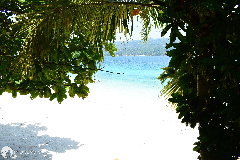 Beach view at Isla Reta