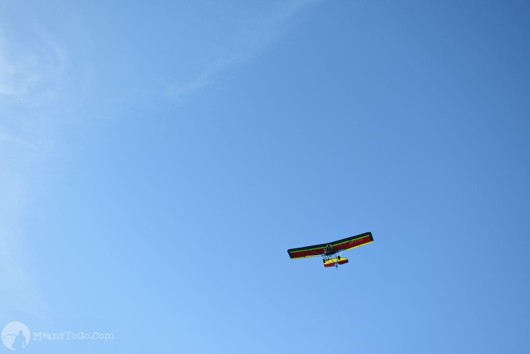 Ultralight Plane Flying, Mati, Davao Oriental