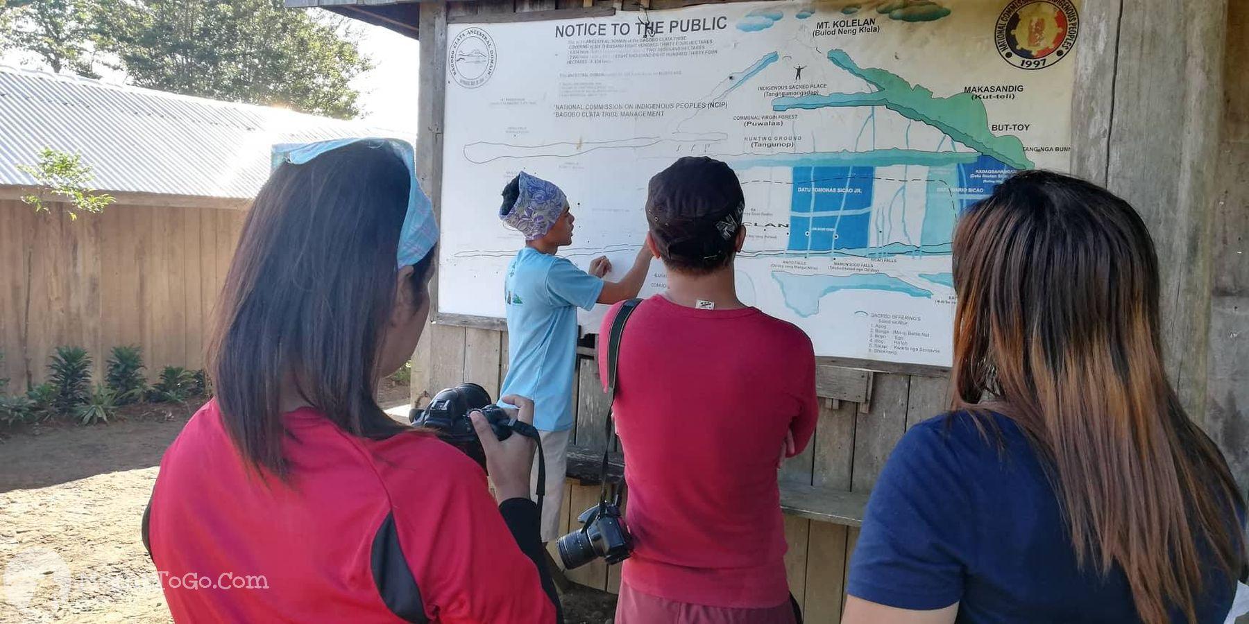Sicao Falls trek orientation