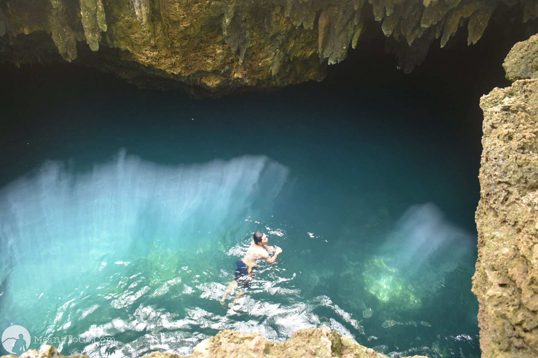 Cabagnow Cave Pool in Anda, Bohol, Philippines