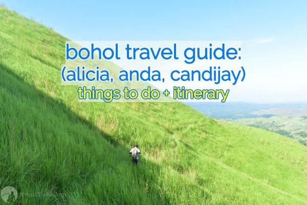 Bohol travel guide - alicia, anda, candijay