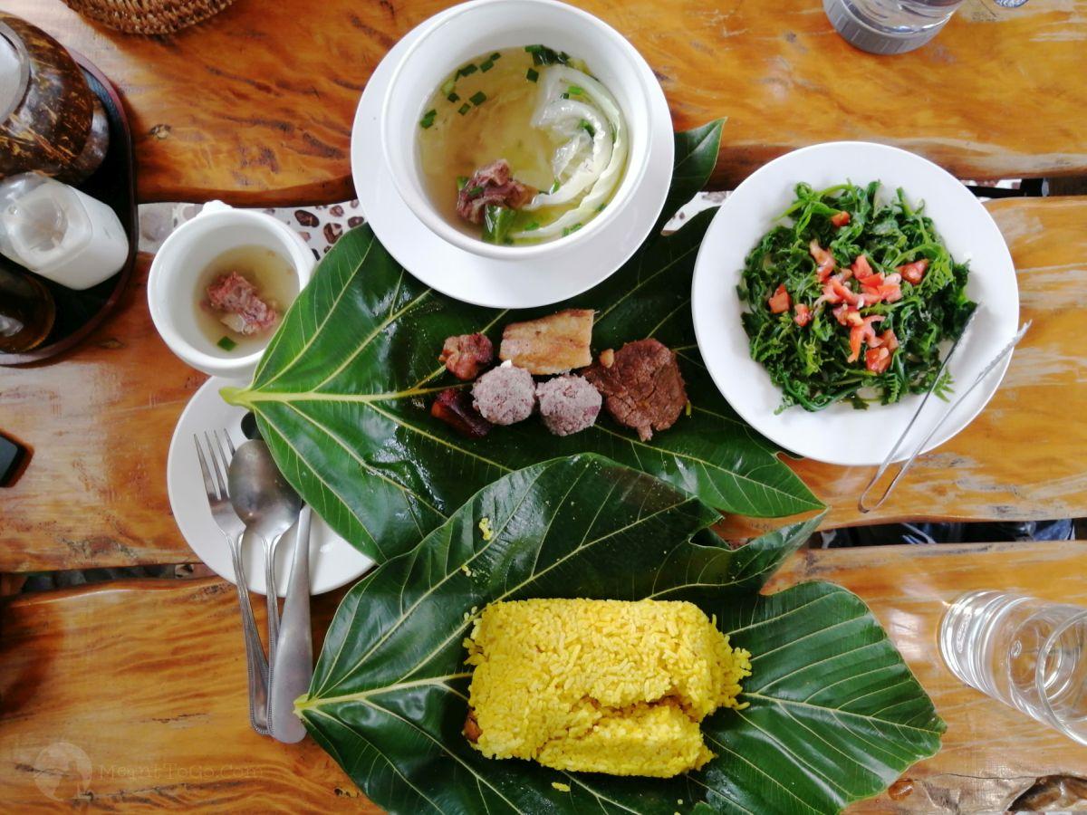 A set of Vunong meal in Batanes