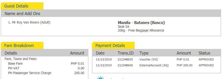 Cebu pacific booking