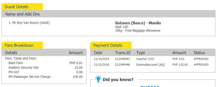 Cebu Pacific travel voucher